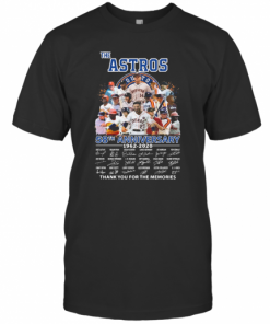 The Houston Astros 58Th Anniversary 1962 2020 Signatures Thank You For The Memories T-Shirt Classic Men's T-shirt