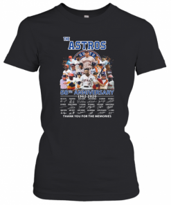The Houston Astros 58Th Anniversary 1962 2020 Signatures Thank You For The Memories T-Shirt Classic Women's T-shirt