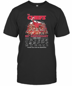 The Kansas City Chiefs 60Th Anniversary 1960 2020 Signatures Thank You For The Memories T-Shirt Classic Men's T-shirt