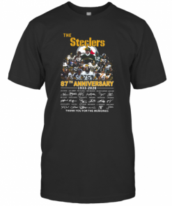 The Pittsburgh Steelers 87Th Anniversary 1933 2020 Signatures Thank You For The Memories T-Shirt Classic Men's T-shirt