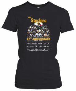The Pittsburgh Steelers 87Th Anniversary 1933 2020 Signatures Thank You For The Memories T-Shirt Classic Women's T-shirt