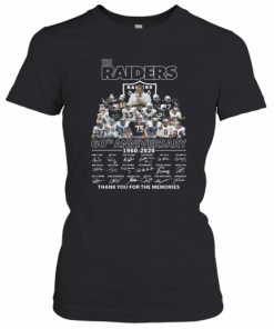 The Raiders 60Th Anniversary 1960 2020 Thank You For The Memories T-Shirt Classic Women's T-shirt
