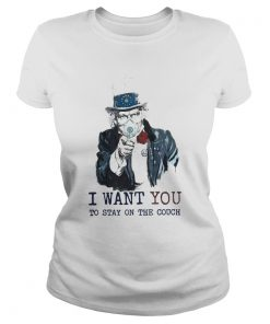 Uncle Sam Mask I Want You To Stay On The Couch  Classic Ladies