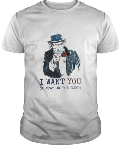 Uncle Sam Mask I Want You To Stay On The Couch  Unisex