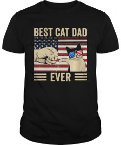 Best Cat Dad Ever Vintage American Flag  Unisex