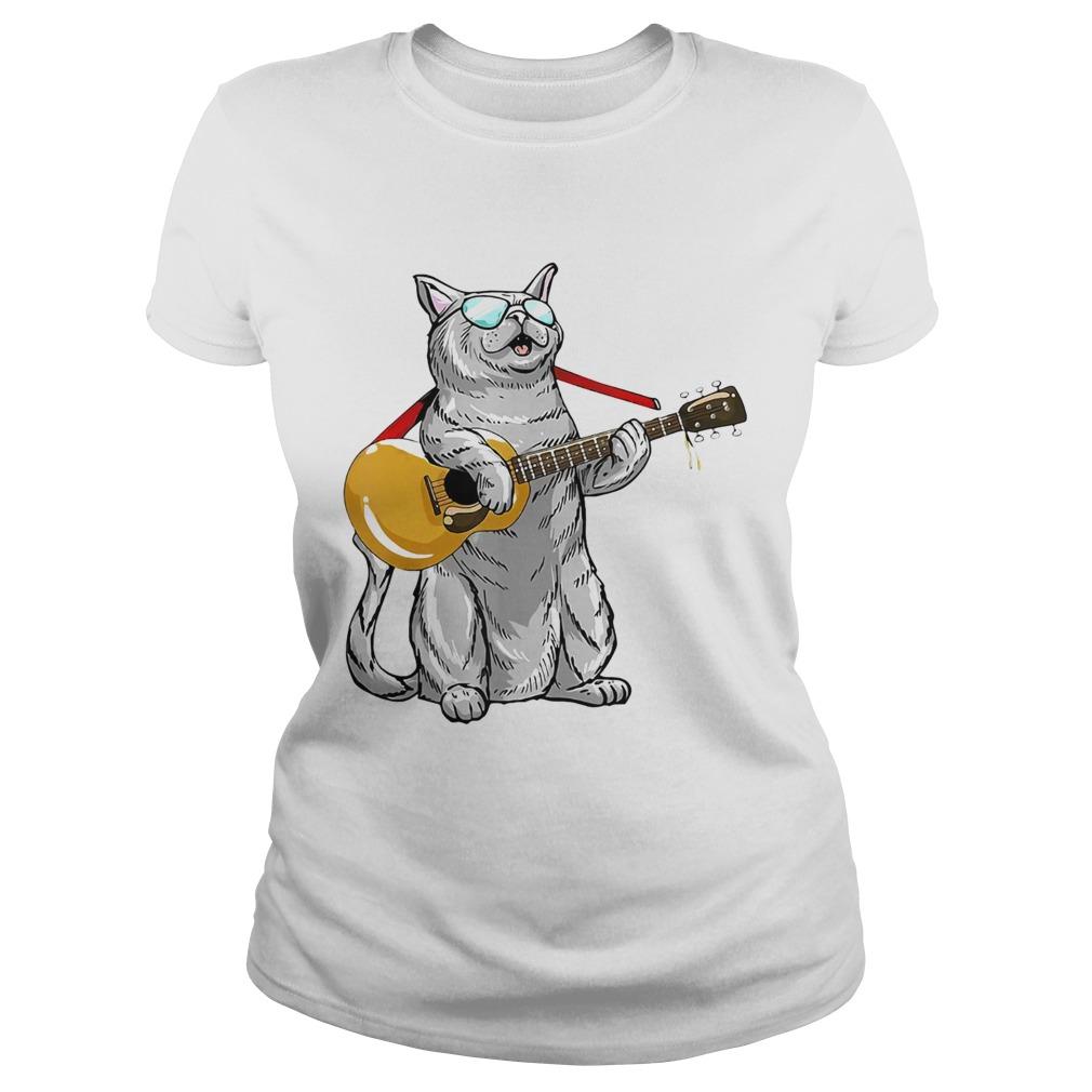 Cat play the guitar Classic Ladies