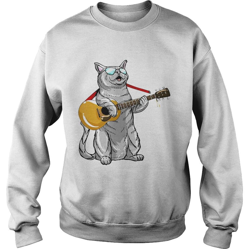 Cat play the guitar Sweatshirt