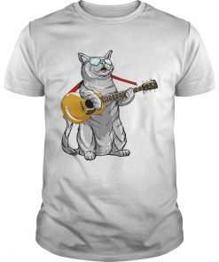 Cat play the guitar  Unisex