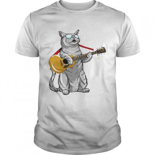 Cat play the guitar  Unisex