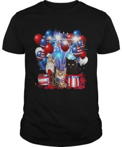 Cats Balloons Fireworks Independence Day 4th Of July  Unisex