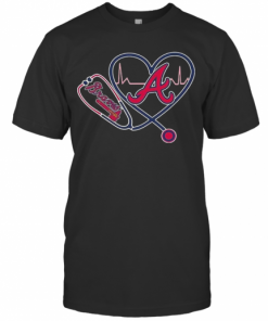 Heartbeat Nurse Love Atlanta Braves T-Shirt Classic Men's T-shirt