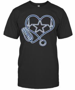 Heartbeat Nurse Love Dallas Cowboy T-Shirt Classic Men's T-shirt