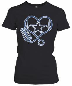 Heartbeat Nurse Love Dallas Cowboy T-Shirt Classic Women's T-shirt