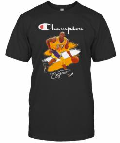 Kobe Bryant Champion Basketball Signature T-Shirt Classic Men's T-shirt