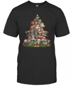 Merry And Bright Owl Christmas Tree T-Shirt Classic Men's T-shirt