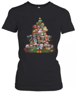 Merry And Bright Owl Christmas Tree T-Shirt Classic Women's T-shirt