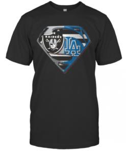 Oakland Raiders And Los Angeles Dodgers Superman T-Shirt Classic Men's T-shirt