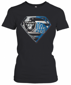 Oakland Raiders And Los Angeles Dodgers Superman T-Shirt Classic Women's T-shirt