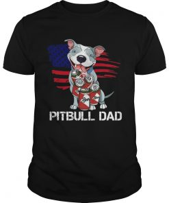 Pitbull Dad Beer American Flag  Unisex