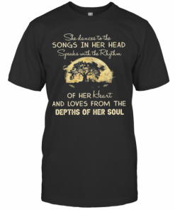 She Dances To The Songs In Her Head Depths Of Her Soul Moon Tree T-Shirt Classic Men's T-shirt