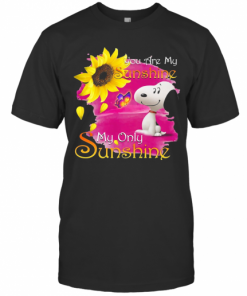 Snoopy Butterfly Sunflower You Are My Sunshine My Only Sunshine T-Shirt Classic Men's T-shirt