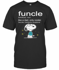Snoopy Funcle Noun Like A Dad Only Cooler See Also Handsome Exceptional Joe Cool T-Shirt Classic Men's T-shirt