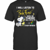Snoopy I Will Listen To Pink Floyd Here Or There I Will Listen To Everywhere T-Shirt Classic Men's T-shirt
