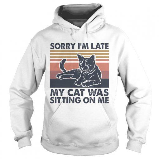 Sorry Im late my cat was sitting on me vintage  Hoodie