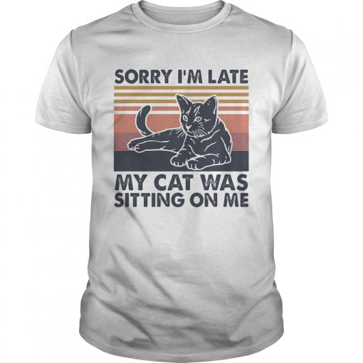 Sorry Im late my cat was sitting on me vintage  Unisex