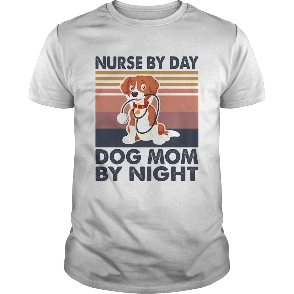 Stethoscope nurse by day dog mom by night vintage Unisex