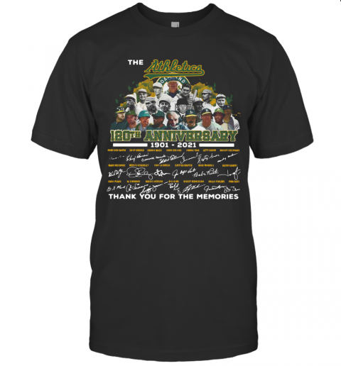 The Athletics 120Th Anniversary 1901 2021 Thank You For The Memories Signatures T-Shirt Classic Men's T-shirt