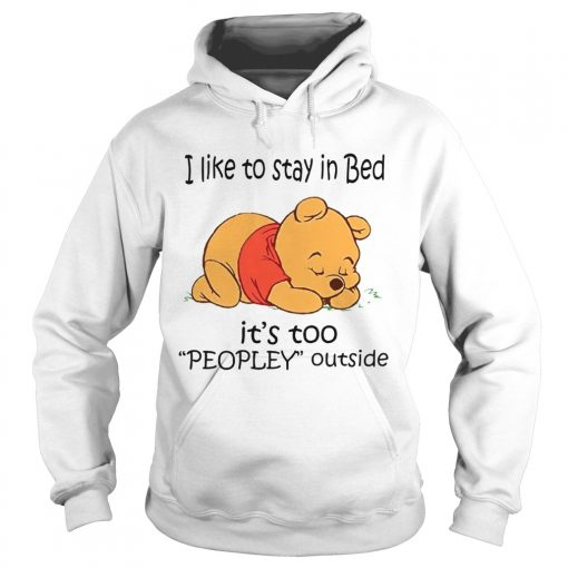 The Bear I Like To Stay In Bed Its Too Peopley Outside  Hoodie