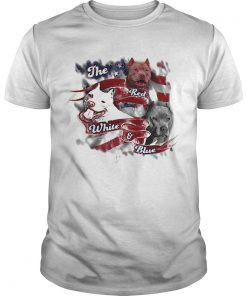 The red white and blue pitbull American flag veteran Independence Day  Unisex