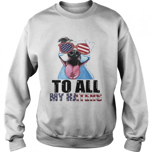 To all my haters pitbull American flag veteran Independence Day  Sweatshirt