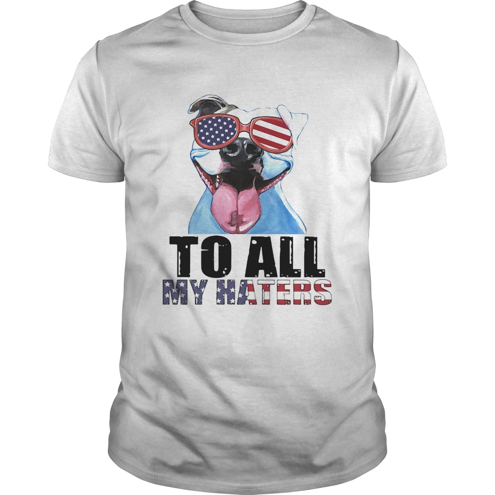 To all my haters pitbull American flag veteran Independence Day Unisex