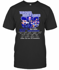 Toronto Maple Leafs 103Th Anniversary 1917 2020 Signature T-Shirt Classic Men's T-shirt