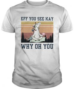 Unicorn Eff You See Kay Why Oh You Vintage  Unisex