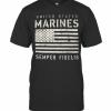 United States Marines Semper Fidelis American Flag T-Shirt Classic Men's T-shirt