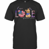 Yorkshire Terrier Live Love Paw Sunflower American Flag Veteran Independence Day T-Shirt Classic Men's T-shirt