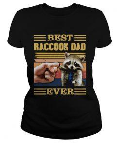 Best Raccoon Dad Ever Vintage  Classic Ladies