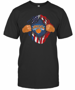 Blood Insides New York Knicks Basketball American Flag Independence Day T-Shirt Classic Men's T-shirt