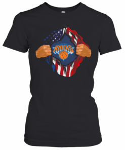 Blood Insides New York Knicks Basketball American Flag Independence Day T-Shirt Classic Women's T-shirt
