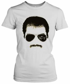Freddie Mercury Face Signature Tee 1970S British Rock Band T-Shirt Classic Women's T-shirt