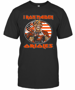 Iron Maiden Baltimore Orioles American Flag Independence Day T-Shirt Classic Men's T-shirt
