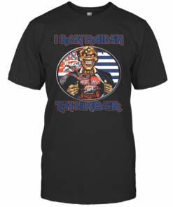 Iron Maiden Oklahoma City Thunder American Flag Independence Day T-Shirt Classic Men's T-shirt