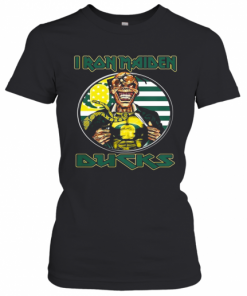 Iron Maiden Oregon Ducks American Flag Independence Day T-Shirt Classic Women's T-shirt
