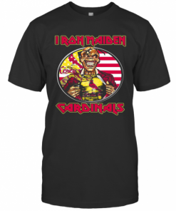 Iron Maiden St. Louis Cardinals American Flag Independence Day T-Shirt Classic Men's T-shirt