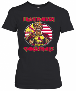 Iron Maiden St. Louis Cardinals American Flag Independence Day T-Shirt Classic Women's T-shirt