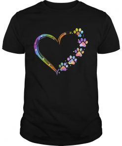 LGBT Paw Dog Heart  Unisex