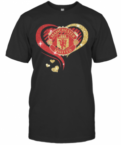 Love Manchester United Hearts Diamond T-Shirt Classic Men's T-shirt